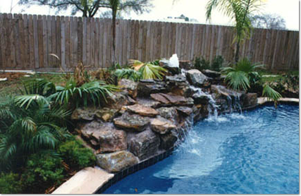 Rock Waterfall for your pool