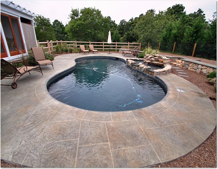 design a shasta syle deck around your swimming pool