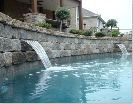 stacked stone in your pool
