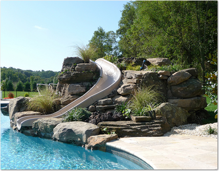 add a waterslide and grotto with accurate pool and spa